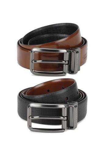 LOUIS PHILIPPE -  Black Mix Belts - Main