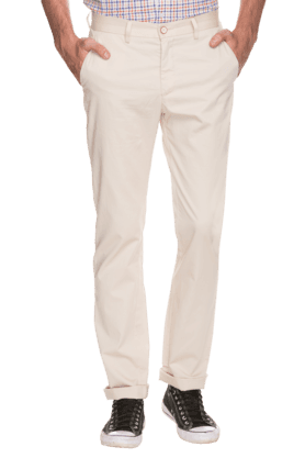 ALLEN SOLLY Mens Slim Fit Solid Formal Trousers - 200594061