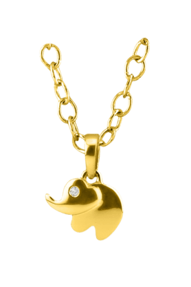 SPARKLESHis & Her Collection 18 Kt Pendant In Gold & Real Diamond HHPXP9132