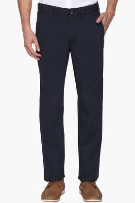 ALLEN SOLLY Mens Regular Fit 5 Pocket Solid Chinos - 202182953