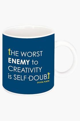 CRUDE AREA Creativity Printed Ceramic Coffee Mug  ...