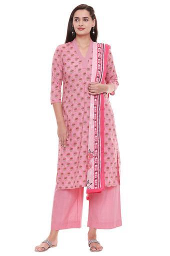 BIBA -  PinkSalwar & Churidar Suits - Main