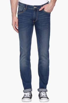 FLYING MACHINEMens Skinny Fit Mild Wash Jeans (Jackson Fit) - 201331552