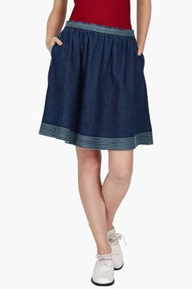 LABEL RITU KUMAR Womens Assorted A Line Knee Length Skirt
