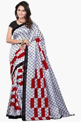Women Bhagalpuri Art Silk Geometrical Printed Saree