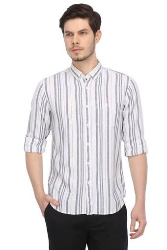 Mens Button Down Collar Stripe Shirt