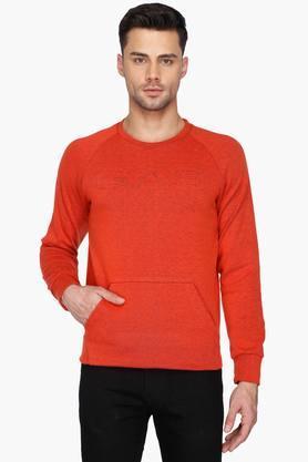 GASMens Solid Crew Neck Sweatshirt (Leach Fit)