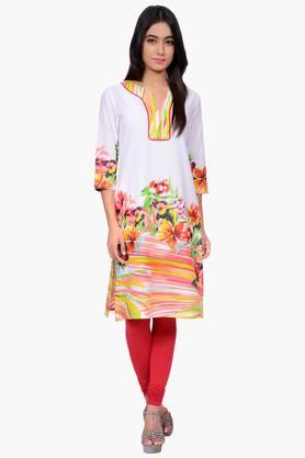 JUNIPER Women Floral Print Cotton Kurta - 201932826