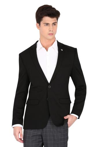 Mens Notched Lapel Solid Blazer
