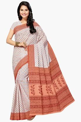 ASHIKA Womens Designer Cotton Printed Saree - 202338348