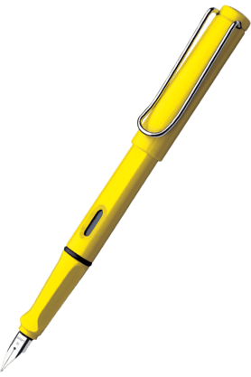WILLIAM PENN Lamy Safari Yellow Medium Fountain Pen
