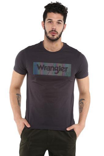 WRANGLER -  BlackT-Shirts & Polos - Main