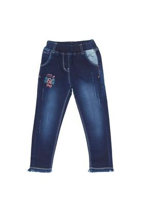 Girls Slim Fit Heavy Wash Jeans