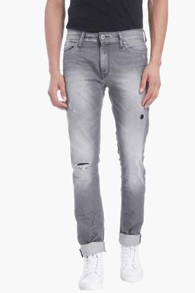 JACK AND JONES Mens 5 Pocket Stretch Jeans (Tim Fit)