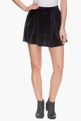 VERO MODAWomens Velvet Skater Skirt