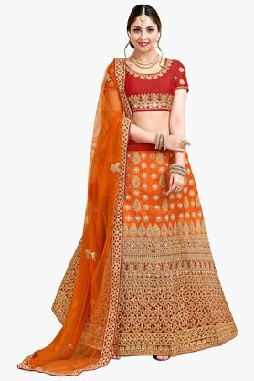 ASHIKA Womens Semi-Stiched Bridal Lehenga Choli