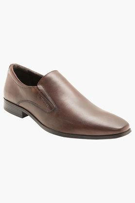 Mens Leather Slip On Loafers - 201805871