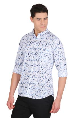 Mens Floral Print Casual Shirt