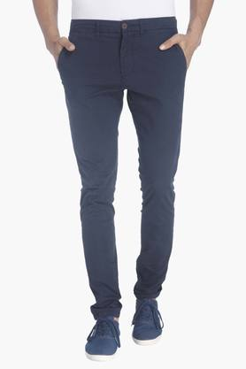 JACK AND JONES Mens Solid Trousers - 201415658
