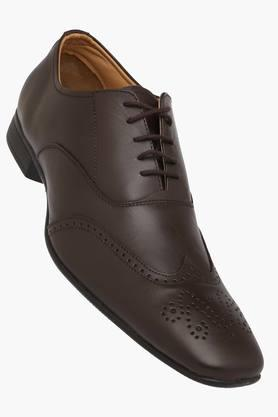 Mens Leather Slip On Laceup Oxford Shoes