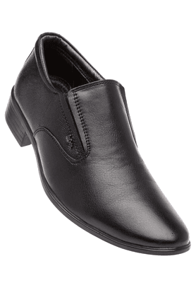 LEE COOPERMens Black Leather Formal Slipon Shoe