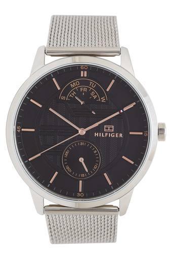 Mens Black Dial Metallic Multi-Function Watch - TH1791610