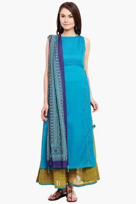 LABEL RITU KUMAR Womens Cotton Kurta Palazzo Set  ... - 202371744