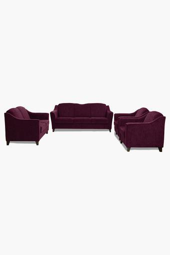 Dark Berry Fabric Sofa (3-2-1-1 Sofa Set)