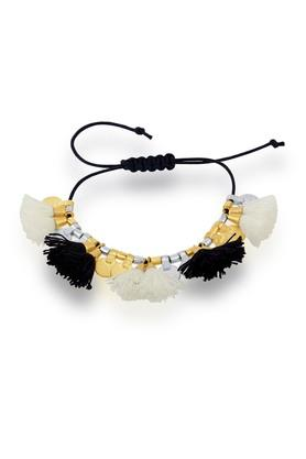 Womens Brass Thread Tassel Bracelet