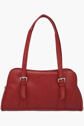 Womens Zipper Closure Synthetic Leather Tote Handbags - 201838070