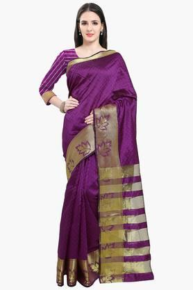Women Poly Silk Zari Border Saree