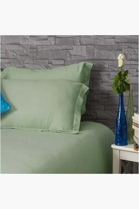 "ST CLOUD Smoke Green Solid Pillow Covers (Pillow Cover 18"" X 27"" (2 Pcs)"