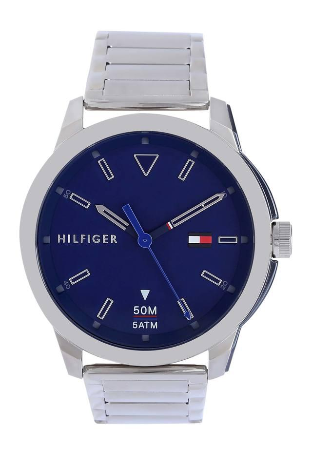 Mens Navy Blue Dial Metallic Analogue Watch - TH1791620