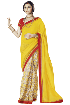 DEMARCA Womens Art Silk Printed Saree (Buy Any Demarca Product & Get A Pair Of Matching Earrings Free) - 201021310
