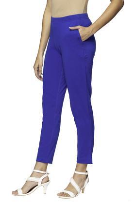 Womens Single Pocket Solid Pants