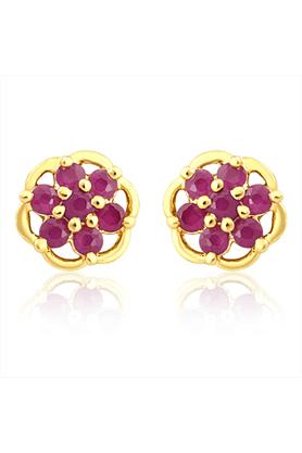 MAHIMahi Gold Plated Millennia Earrings With Ruby Stones For Women ER1108969G