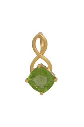 Womens Yellow Gold,Peridot Stone Pendant CLTD15100251