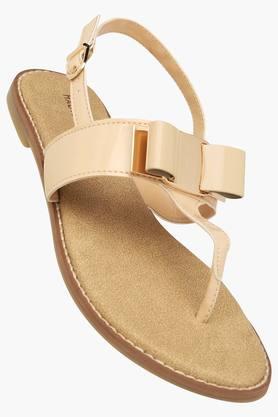 Womens Casual Wear Buckle Closure Flat Sandals - 202358765