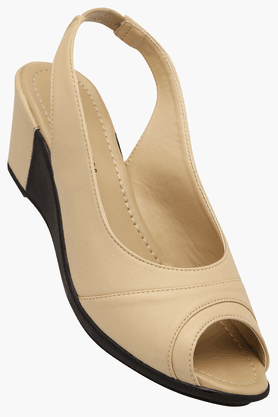 LEMON & PEPPER Womens Daily Wear Slipon Wedge Sandal - 201088407