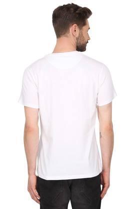 Mens Round Neck Floral Print T-Shirt