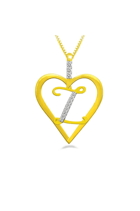 SPARKLESHis & Her Collection 92 Kt Diamond Pendants In 925 Sterling Silver Diamond HHP8418-92KT