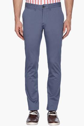 Mens Solid Trousers