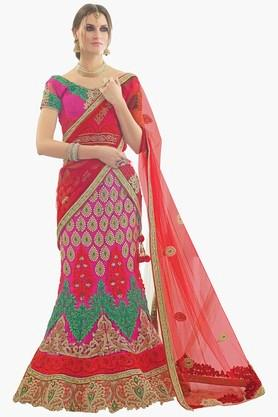 MAHOTSAV Womens Embroidered Semi-stitched Lehenga Choli - 201661630