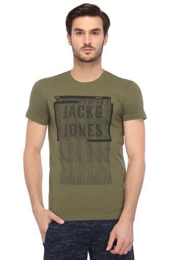 JACK AND JONES -  OliveT-shirts - Main