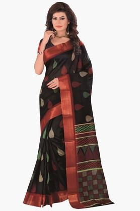 DEMARCA Womens Printed Gold Woven Saree - 201811315