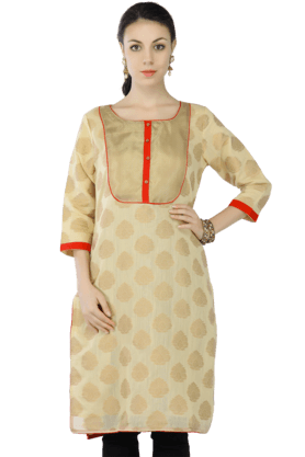 KASHISH Women Chanderi Printed Kurta