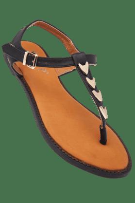 STOPWomens Janet Ankle Closure Flat Sandal