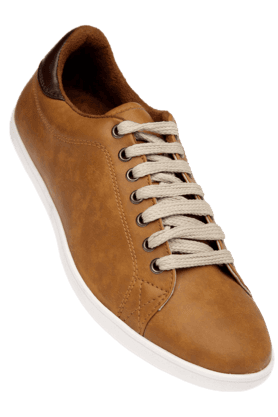 FRANCO LEONE Mens Tan Casual Lace Up Shoe