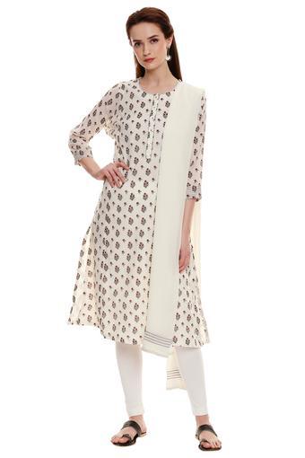 BIBA -  Off WhiteSalwar & Churidar Suits - Main