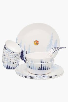 Round Tree Printed Dinner Set of 16